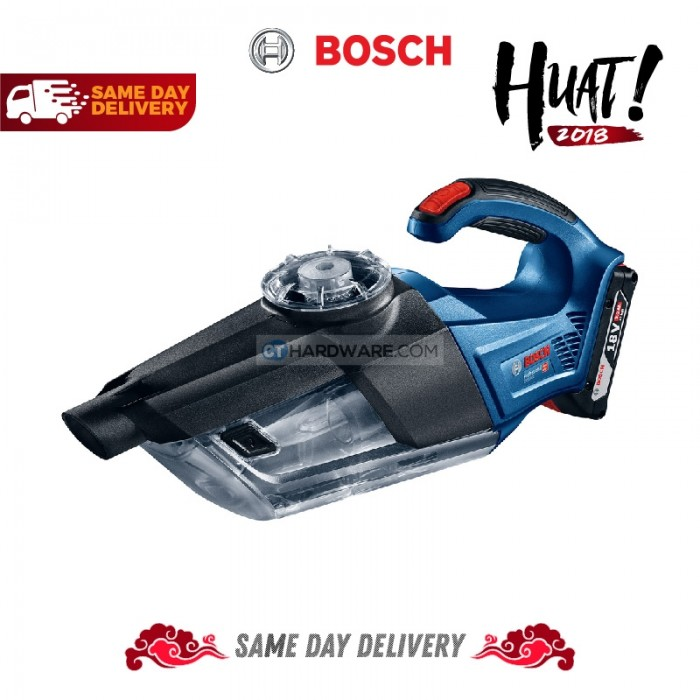 bosch gas18v 1 professional cordless vacuum cleaner 18v combo with 2x 1 5ah battery and al1814cv. Black Bedroom Furniture Sets. Home Design Ideas