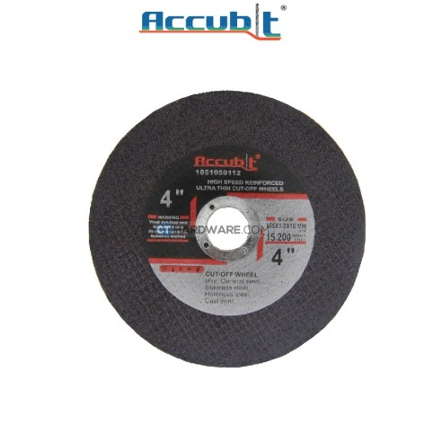 "Accubit Flat Metal Cutting Disc 105mm (4"") x 1.2mm x 16mm (x10pcs)"