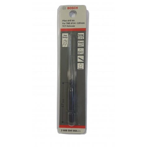 BOSCH 2608594058 CENTER PIOT DRILL BIT ( FOR TCT HOLE SAW ) 4.35MM