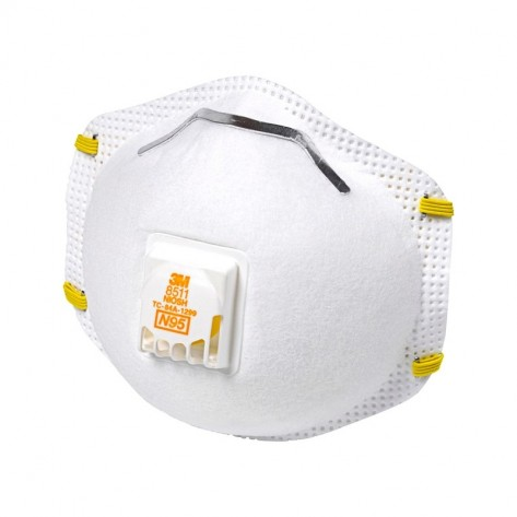 3M 8511 N95 Particulate Respirator Half Mask With Halve