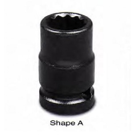 "Action 1/2""Dr Standard Length Impact Socket 12-point 8mm-36mm"