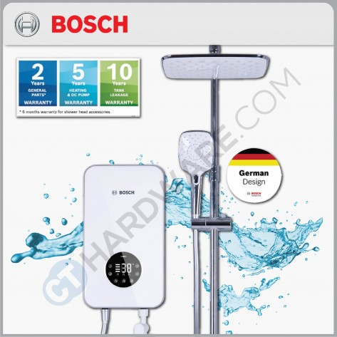 BOSCH TRONIC 8000 S SERIES WATER HEATER 3.8KW C/W DIGITAL DISPLAY,THERMOSTATIC CONTROL (3 PRE-SET TEMP MEMORY FUNCTION , WITH DC INVERTER PUMP)