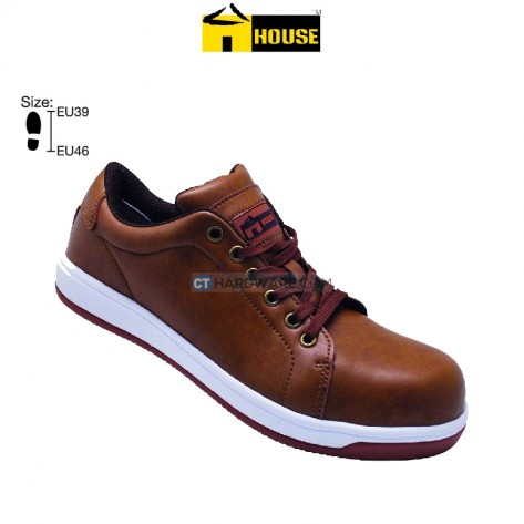 House BRADFORD Safety Shoe EVA & Nutruke Rubber Outsole & Aramid Mid Sole (Brown)
