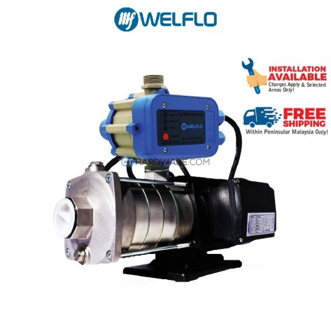 WELFLO CM230PC 370W Domestic Multistage Stainless Steel Centrifugal Booster Pump
