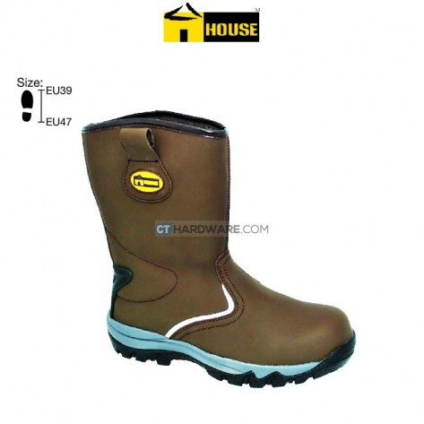 House LANCASTER Safety Boot Eva Nitrile Rubber (Outsole) Brown