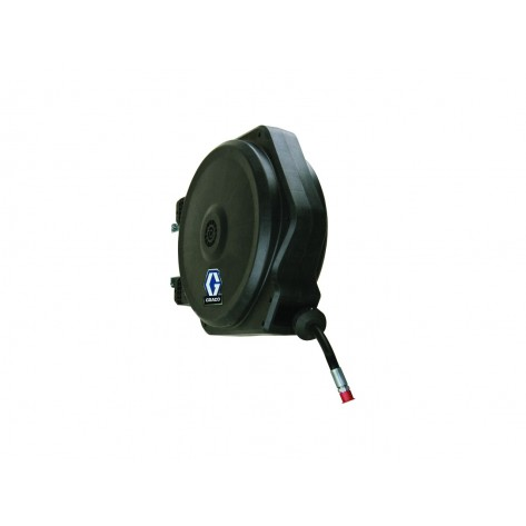 Graco 24F743 LD Series Enclosed Hose Reel 1/4in x 35ft (Grease) with Wall Mount
