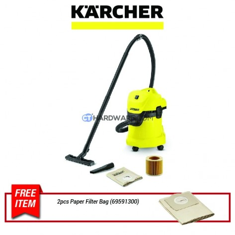 Karcher WD3 Wet & Dry Vacuum Cleaner 17L 1000W with Cartridge Filter