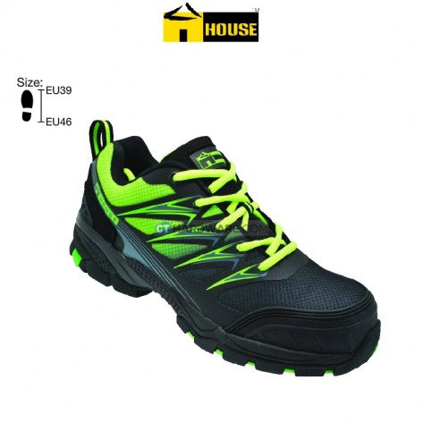 House ROMA Safety Shoe EVA & Nitrille Rubber (Black & Light Yellow)