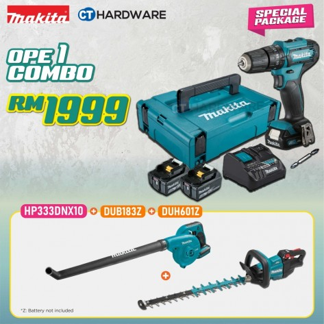 MAKITA SPECIAL COMBO PACKAGE OFFER - OPE COMBO 1 [HP333DNX10 + DUB183Z + DUH601Z]
