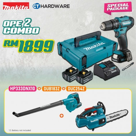 MAKITA SPECIAL COMBO PACKAGE OFFER - OPE COMBO 2 [HP333DNX10 + DUB183Z + DUC254Z]
