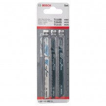 Bosch Jigsaw Blade Set (3-Piece) 2607010062