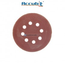 "Accubit 2490035080 Abrasive 80 Grit Velcro Sandpaper 8-Hole 125mm (5""), 5pcs-pack"