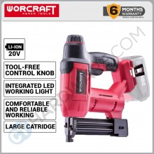 WORCRAFT CNS-S20LI SOLO  CORDLESS NAILER 20V 15-22MM WITHOUT BATTERY & CHARGER (CNSS20LISOLO)