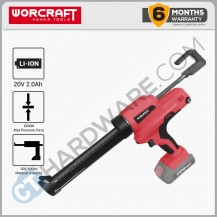WORCRAFT CORDLESS CAULKING GUN 20V  W/O BATTERY & CHARGER (CCGS20LISOLO)