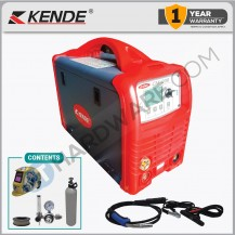 KENDE CM200  IGBT INVERTER WELDING MACHINE  200AMP (C/W REGULATOR, MIG WIRE X 5KG , 1 X CO2 GAS , D/HELEMT)