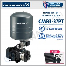 GRUNDFOS CMB 3-37 PT AUTOMATIC HOME PRESSURE BOOSTER WATER PUMP WITH PRESSURE TANK