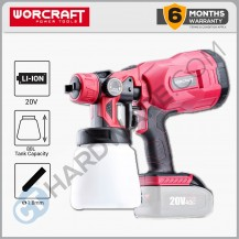 WORCRAFT CSGS20LISOLO CORDLESS SPRAYER 20V 1.8MM 350L/MIN 800ML W/O BATTERY & CHARGER (SOLO)