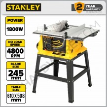 """STANLEY SST1801 TABLE SAW WITH FRAME 10"""" 1800W 4800/MIN"""