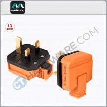 MasterPlug Rewireable Heavy Duty Plug 13Amp(Orange)