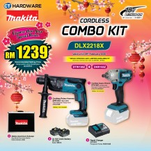MAKITA SPECIAL COMBO CNY PACKAGE OFFER - CORDLESS COMBO KIT SET [DTW190Z + DHR165Z + SUITCASE + 2x BATTTERY + 1x RAPID CHARGER] (DLX2218X)
