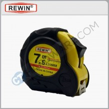 Rewin 7.5m x 25mm measuring tape (Metric /Inch) RJC7525A