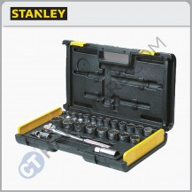 "Stanley 86-477 1/2"" DR SOCKET SET 10MM - 32MM 12PT (27PCS)  10MM - 27MM , 30MM , 32MM (86477)"