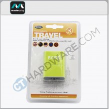 Masterplug Traveller Universal Adaptor(UK To USA,EUROPE,AUSTRALIA,CHINA) Green