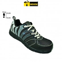 House ATHENS Safety Shoe EVA & Nitrille Rubber Toe Cap & Aramid Mid Sole (Black & Grey)