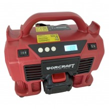 WORCRAFT CACS20LISOLO CORDLESS MULTI AIR PUMP 20V 11 BAR/160PSI/1100KPA W/O BATT & CHARGER