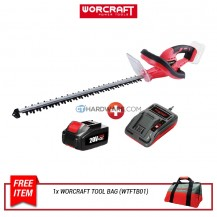 "Worcraft CHTS20LI Cordless Hedge Trimmer 20V 22"" 1050/Min"