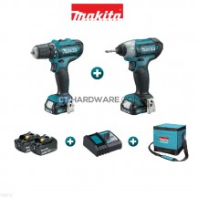 MAKITA CLX201 12V CXT Series Combo Kit (DF331D Cordless Drill Driver + T110D Cordless Impact Driver + 2x 1.5Ah Battery + Standard Charger + Makita Bag)