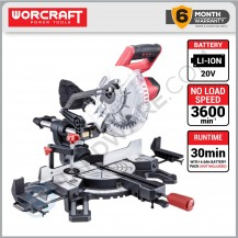 "WORCRAFT CMS-S20LI SOLO CORDLESS MITRE SAW 20V 7 1/2"" 3600RPM WITHOUT BATTERY & CHARGER (CMSS20LISOLO)"