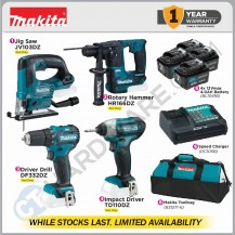 MAKITA BRUSHLESS CORDLESS COMBO 3 12Vmax (JV103DZ+HR166DZ+TD111DZ+DF332DZ) - WHILE STOCKS LAST