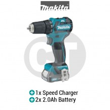 "MAKITA DF332DSAE CXT 10MM (3/8"") CORDLESS DRIVER DRILL WITH BRUSHLESS MOTOR (12V CXT SERIES)"