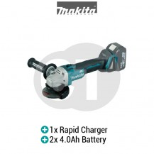 "MAKITA DGA406RME 100MM (4"") CORDLESS ANGLE GRINDER (LXT SERIES)"