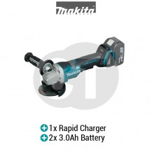 "MAKITA DGA408RFE 100MM (4"") CORDLESS ANGLE GRINDER (LXT SERIES)"