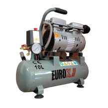 EUROPOWER EAX5010 OILESS AIR COMPRESSOR 3/4HP X10L TANK 76L/MIN 1400 RPM