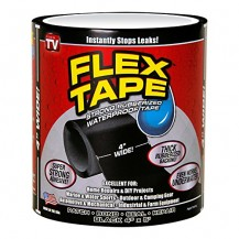 "Strong Rubberized Waterproof Tape  4"" x 60"" (Black) 10 x 150Cm"