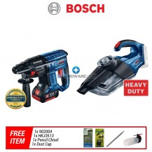 [COMBO] Bosch Cordless GBH180LI Hammer Drill + GAS18V1SOLO Vacuum Cleaner c/w Accessories
