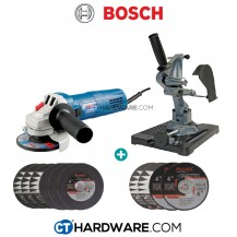 """Bosch GWS750 Professional 4""""/100mm 750W Angle Grinder C/W Accubit Angle Grinder Stand"""