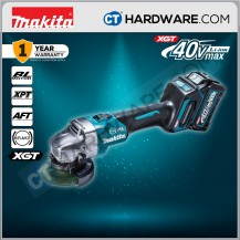 """Makita GA003GM201 Cordless Brushless Angle Grinder 40V 4"""" 100mm 8500Rpm C/W 2x 4.0Ah Battery & 1x Fast Charger"""