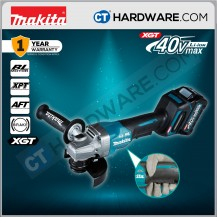 """Makita GA011GM201 Cordless Brushless Angle Grinder 40V 4"""" 100mm 8500Rpm C/W 2x 4.0Ah Battery & 1x Fast Charger"""
