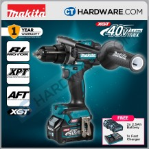 Makita HP001GD201 Cordless Brushless Hammer Driver Drill 40V 13mm C/W 2x 2.5AH Battery & 1x Fast Charger
