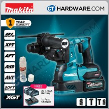 """Makita Cordless Brushless Combination Hammer 40V 1-1/8"""" 28mm 3.2J 5000Ipm C/W 2x 4.0Ah Battery & 1x Fast Charger"""