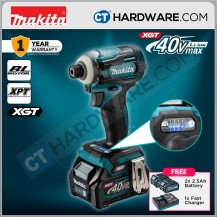 """Makita TD001GD201 Cordless Brushless Impact Driver 40V 1/4"""" 6.35mm 220Nm C/W 2x 2.5Ah Battery & 1xFast Charger"""