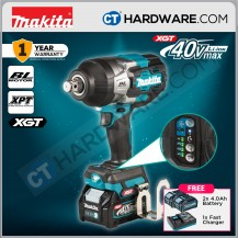 """Makita TW001GM201 Cordless Brushless Impact Wrench 40V 3/4"""" 19mm 1800Nm 1800Rpm C/W 2x 4.0Ah Battery & 1x Fast Charger"""