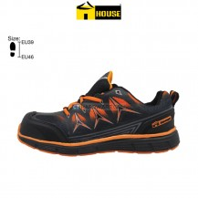 House MESSINA Safety Shoe EVA & Nitrille Rubber / Aramid Mid Sole (Black & Orange)