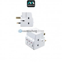 Masterplug Switched MultiSocket Adapter With 4 Socket,3 Switched 13Amp