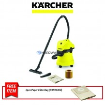 Karcher MV3 Wet & Dry Vacuum Cleaner 17L 1000W with Cartridge Filter (WD3)