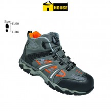 House NICE Safety Shoe Composite Top Cap / Mid Sole (Orange & Grey)